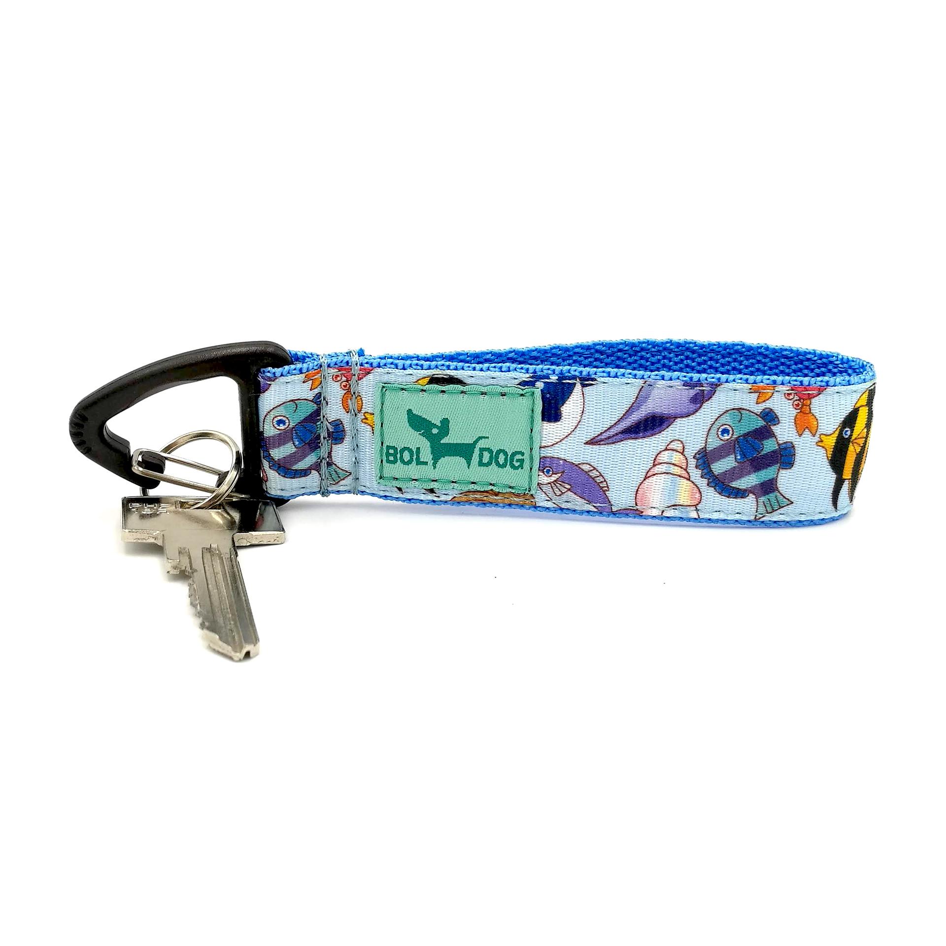 fish patterned key holder