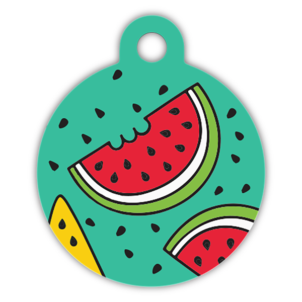 Melon dog ID tag