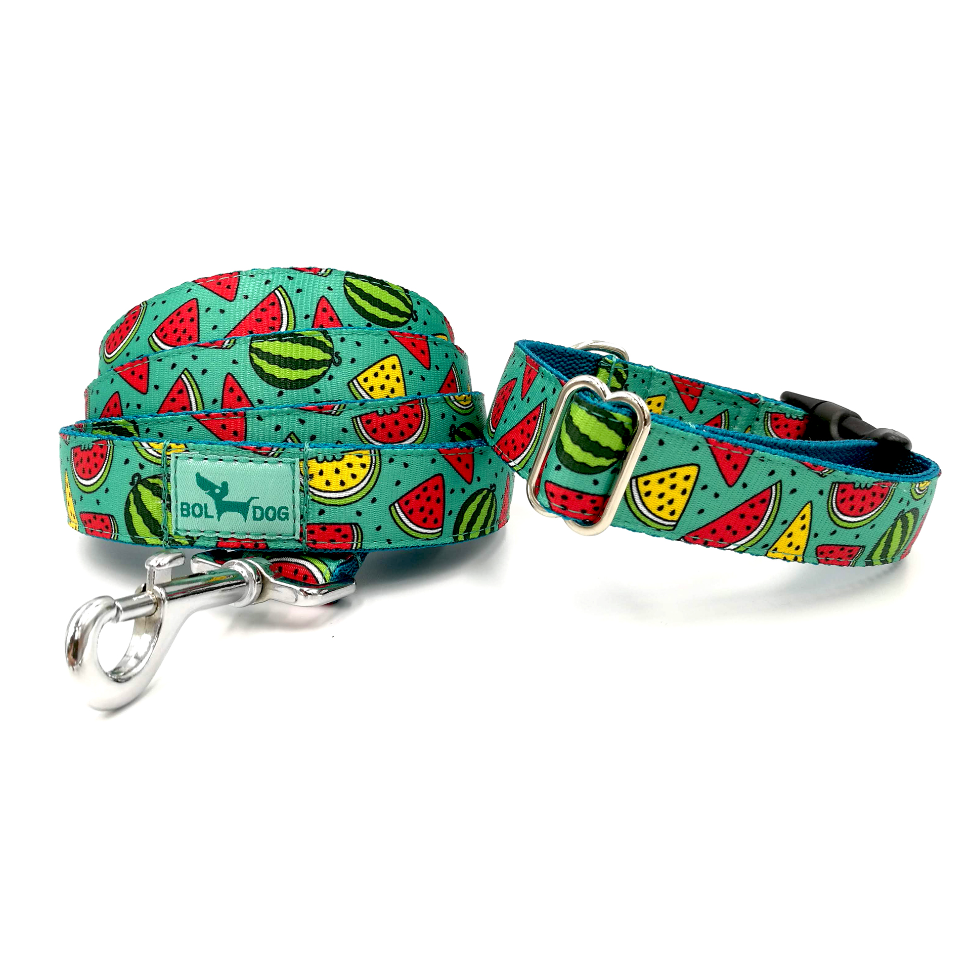 Melon patterned dog leash