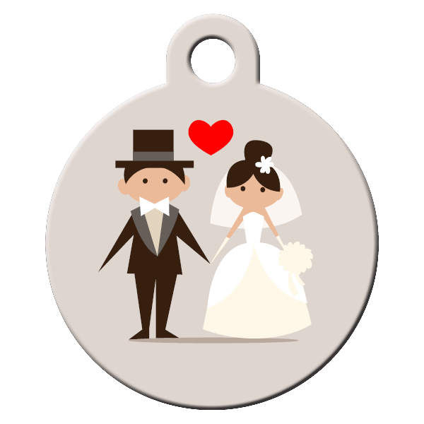 Wedding dog ID tag