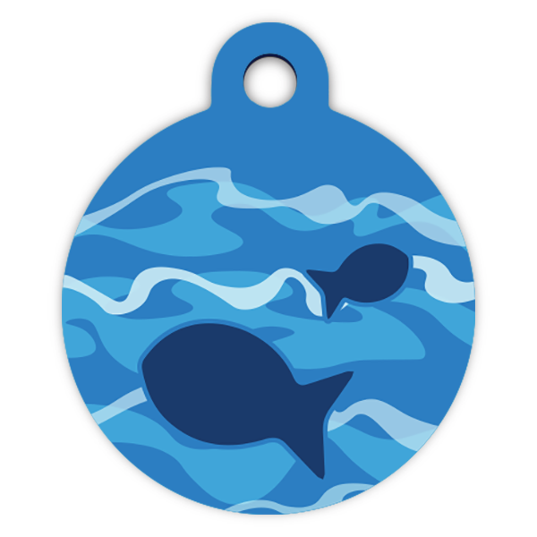 Fisherman dog ID tag