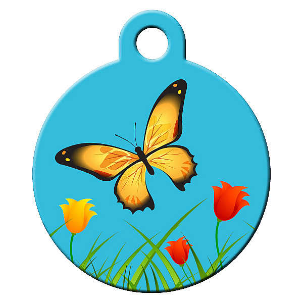 Butterfly dog ID tag