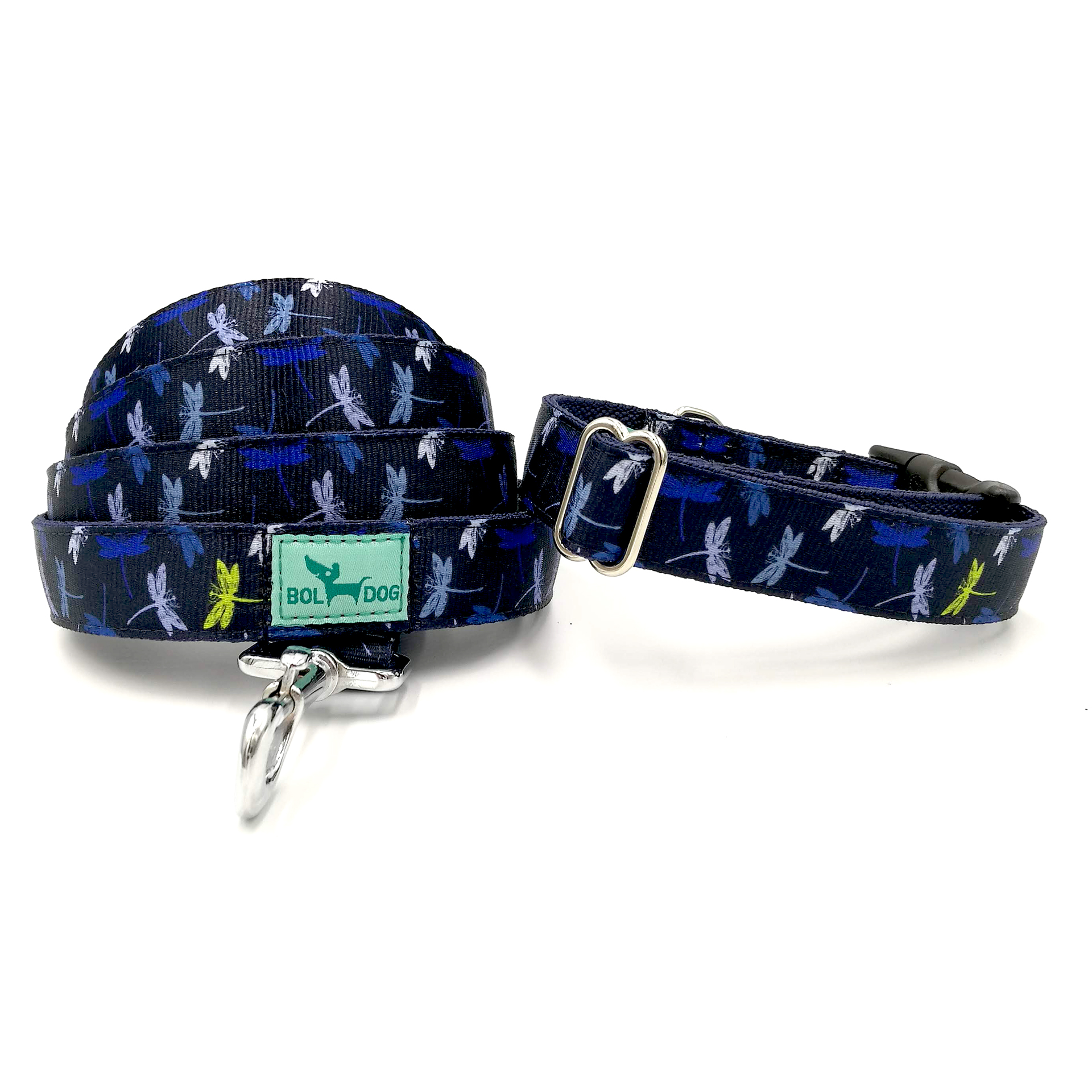 Dragonfly patterned leash