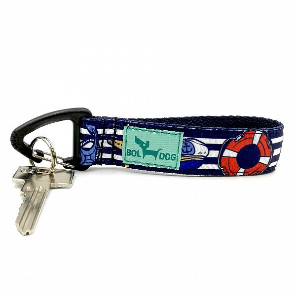 Tengerész kék kulcstartó