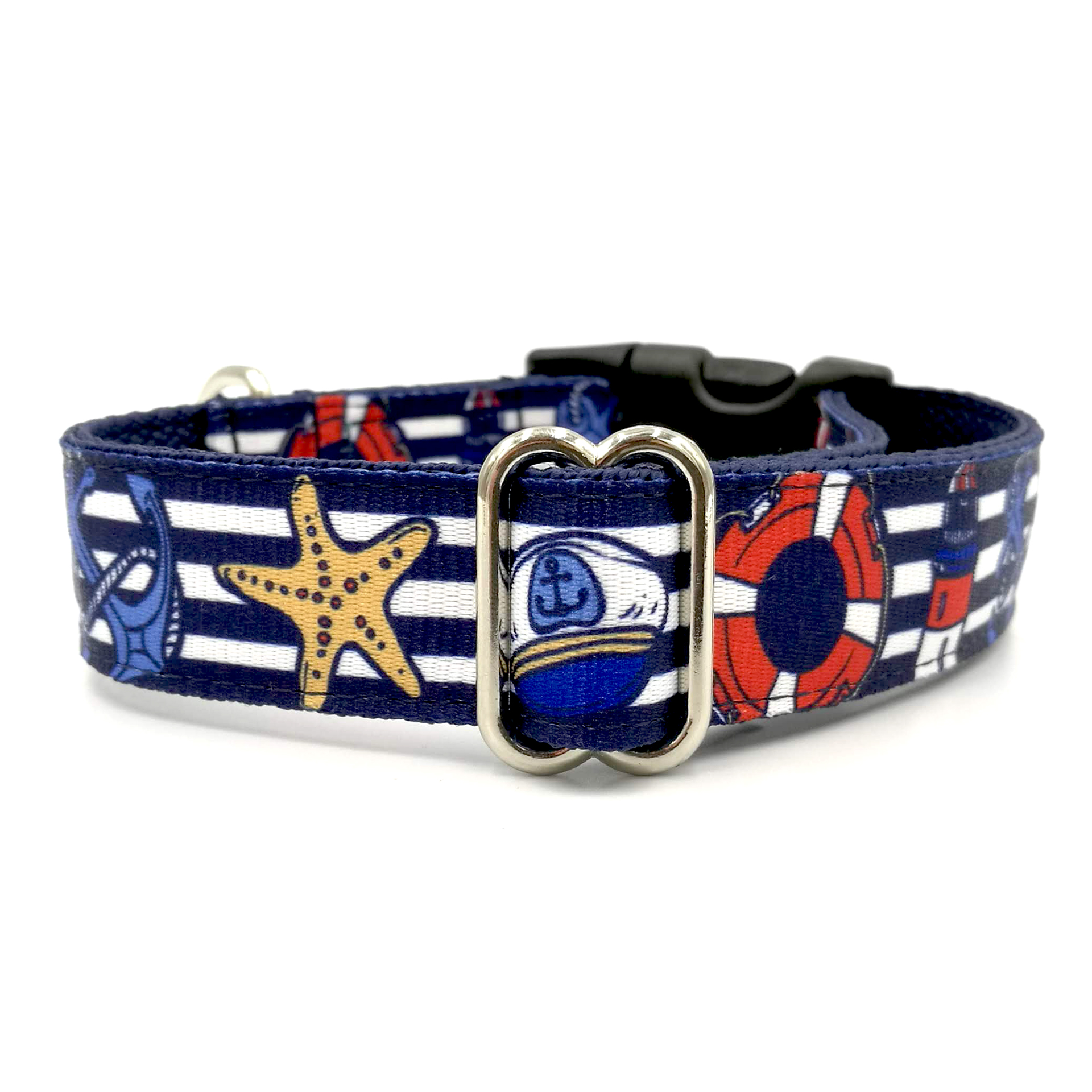Marine blue dog collar