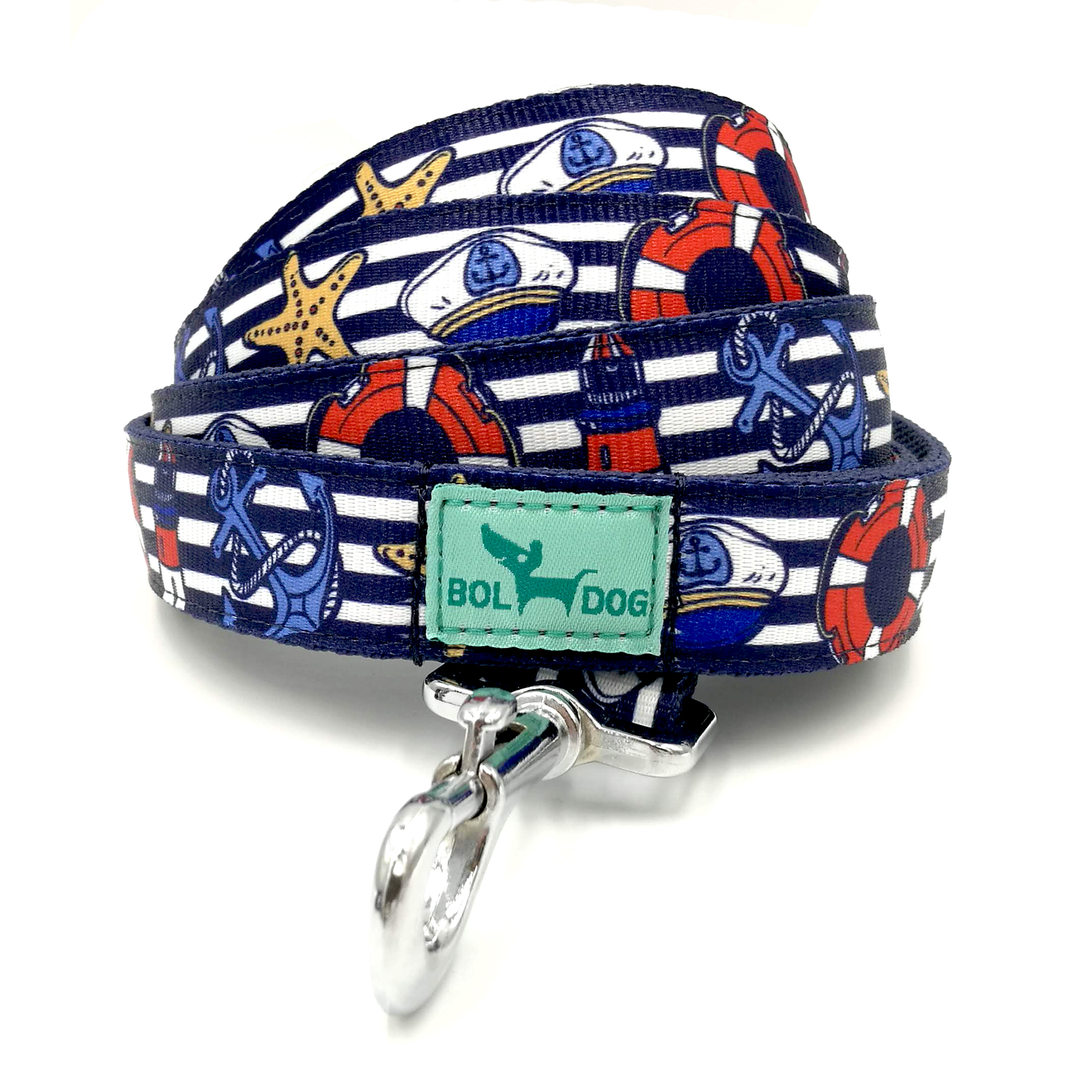 Marine blue dog leash