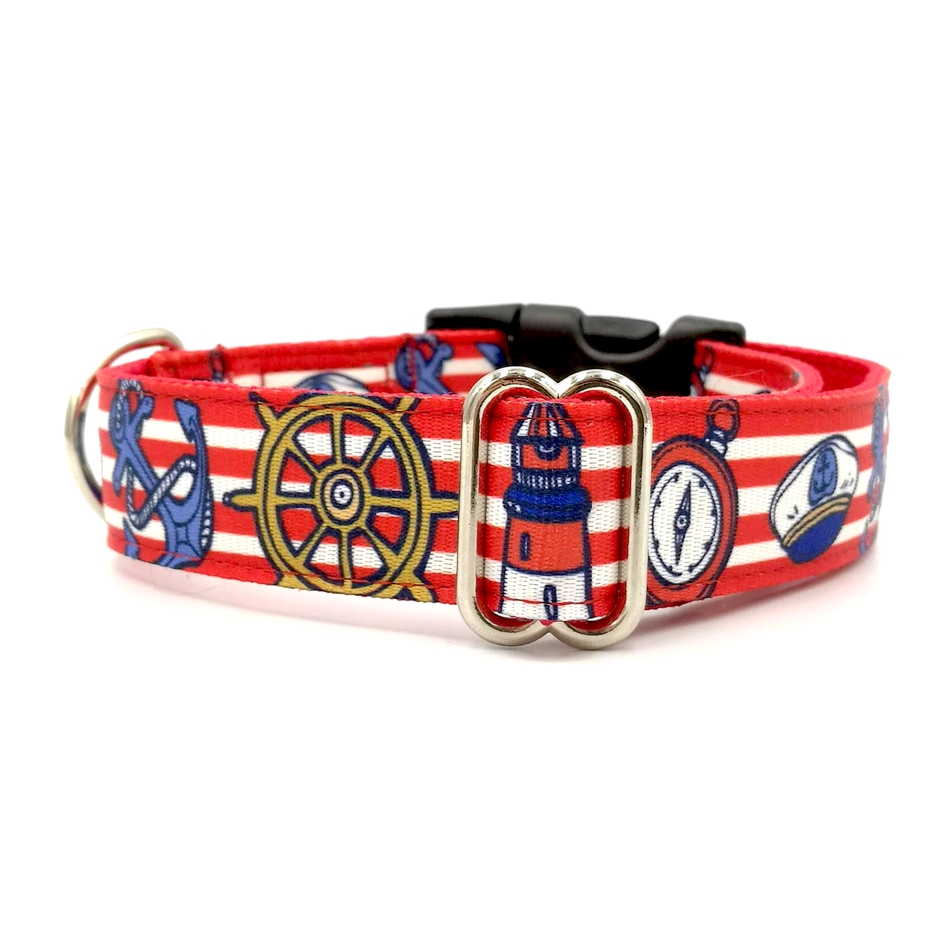 Marine red dog collar