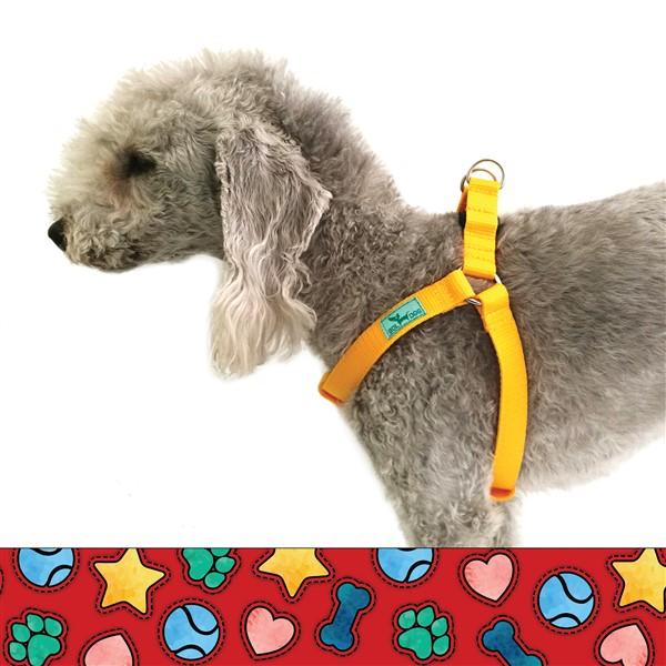 piros mintás kutyahám