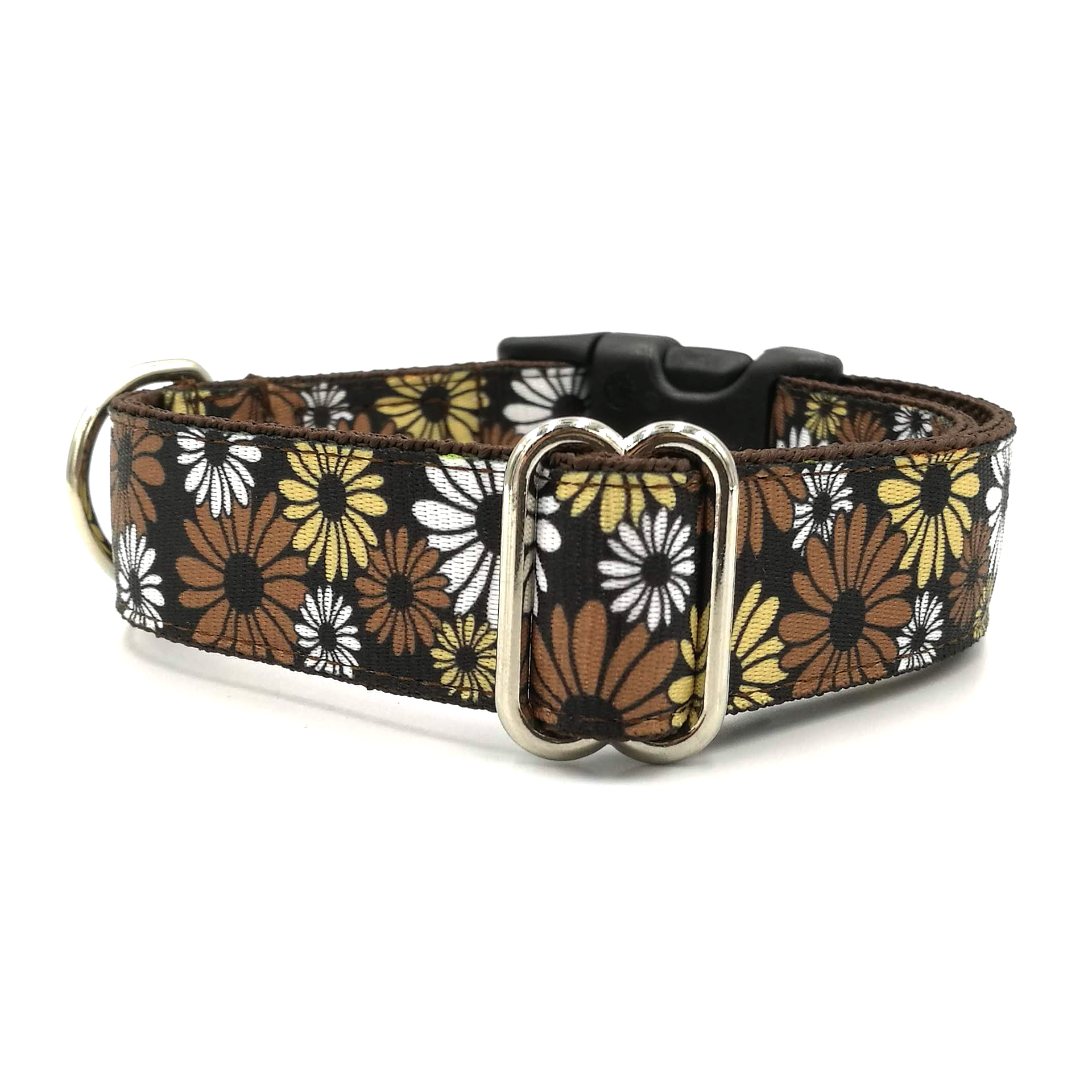 Brown floral collar