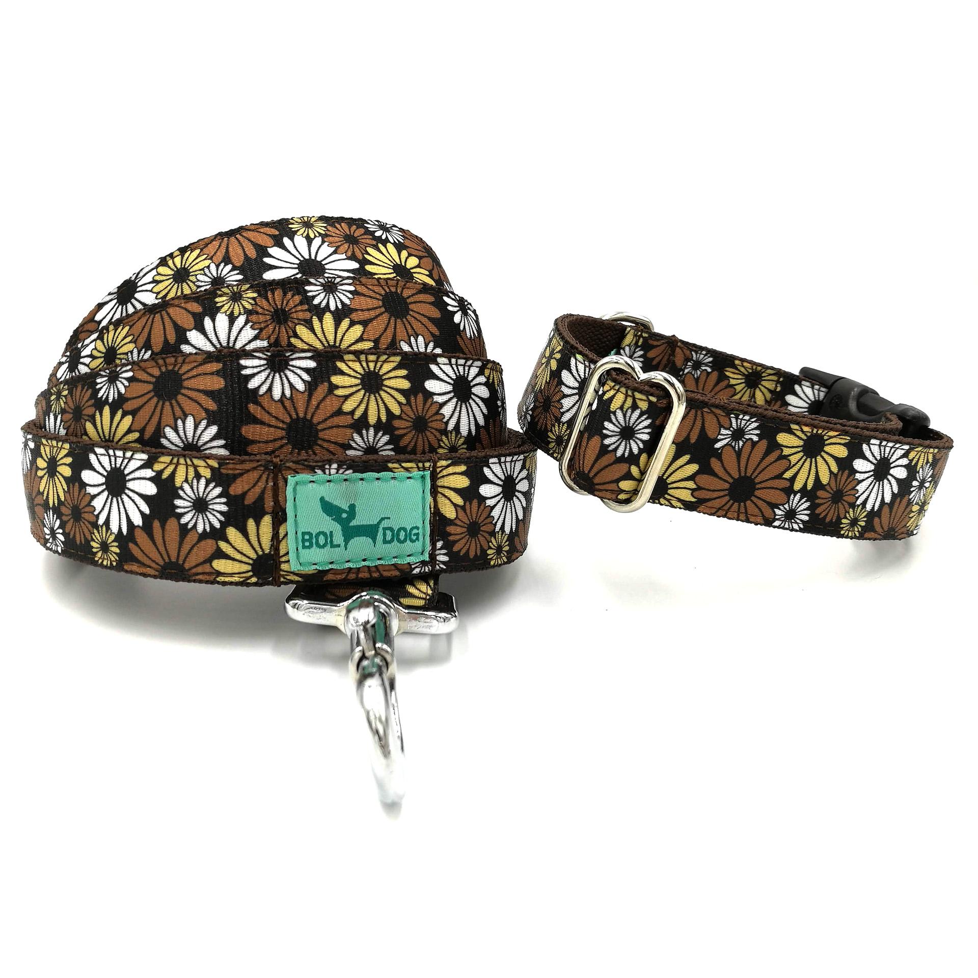 floral leash and collar set