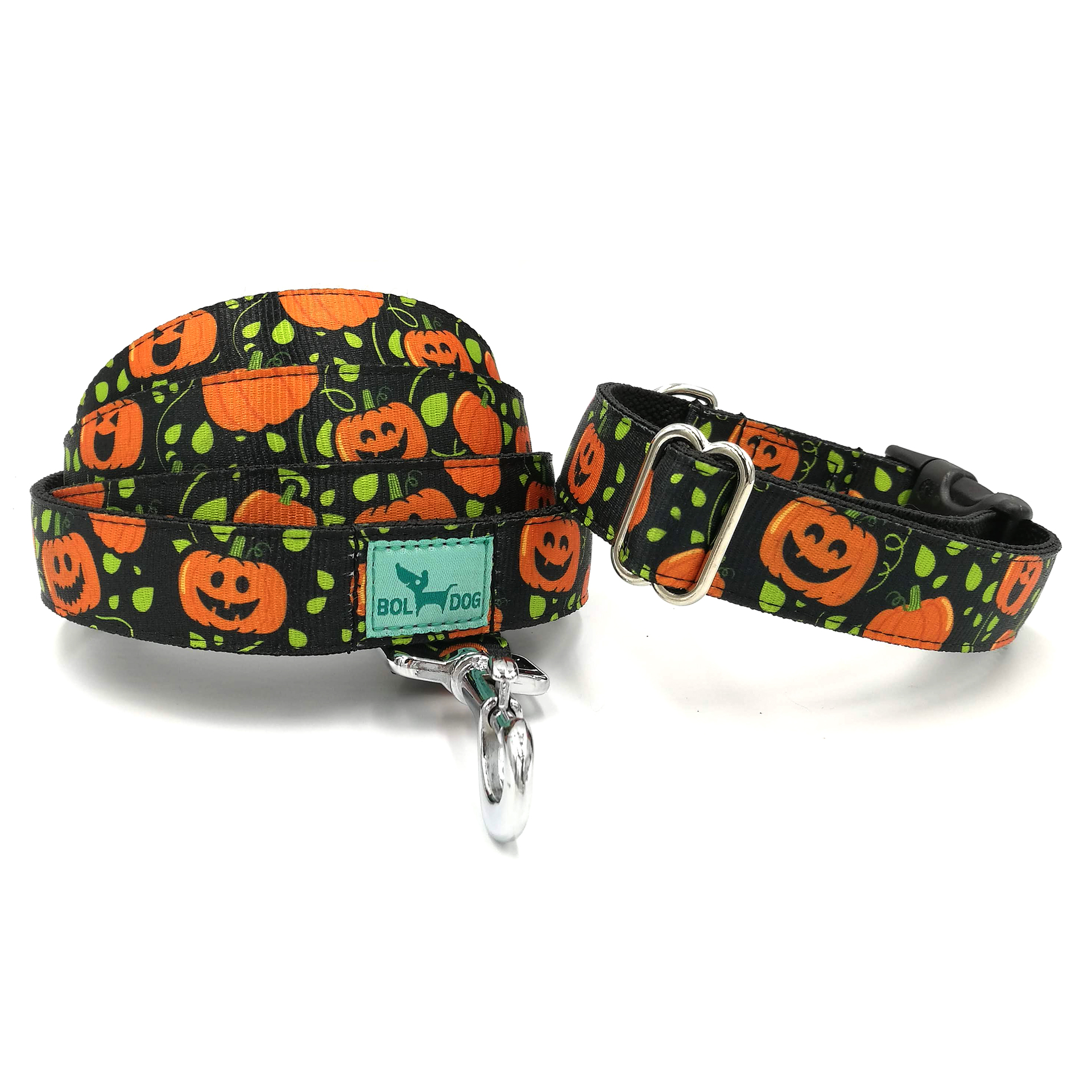 halloween collar and leash set