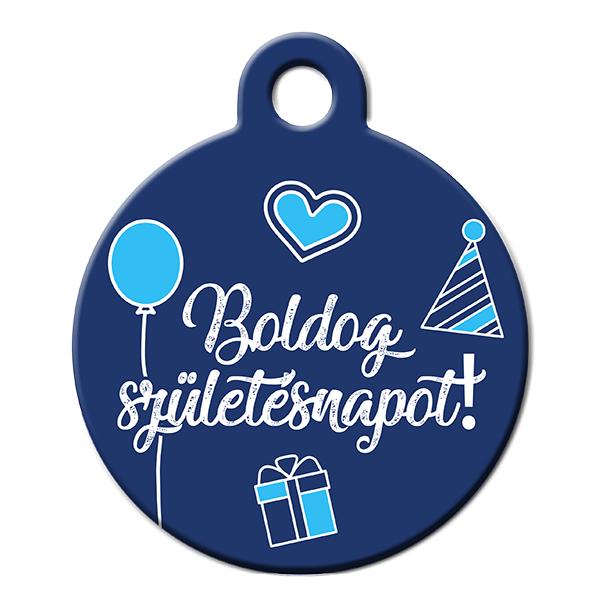 Boldog Születésnapot kék kutyabiléta