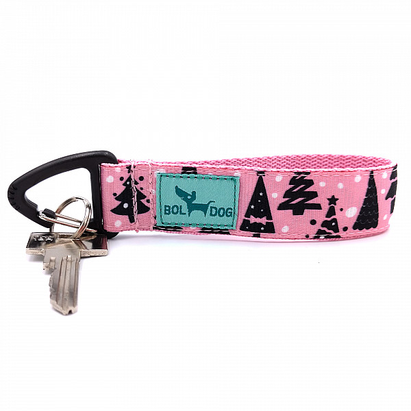 Pink Christmas key holder
