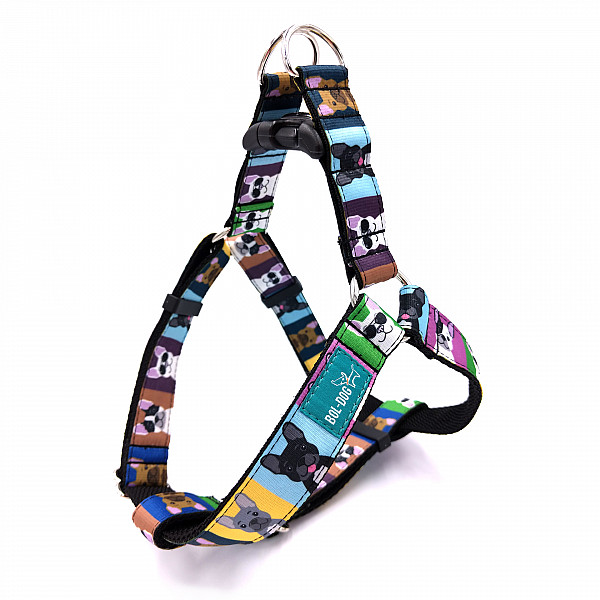 Bulldog love harness