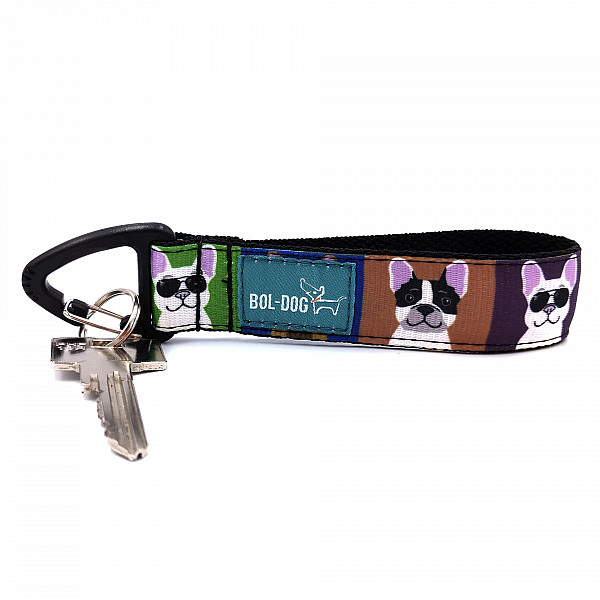 Bulldog love key holder