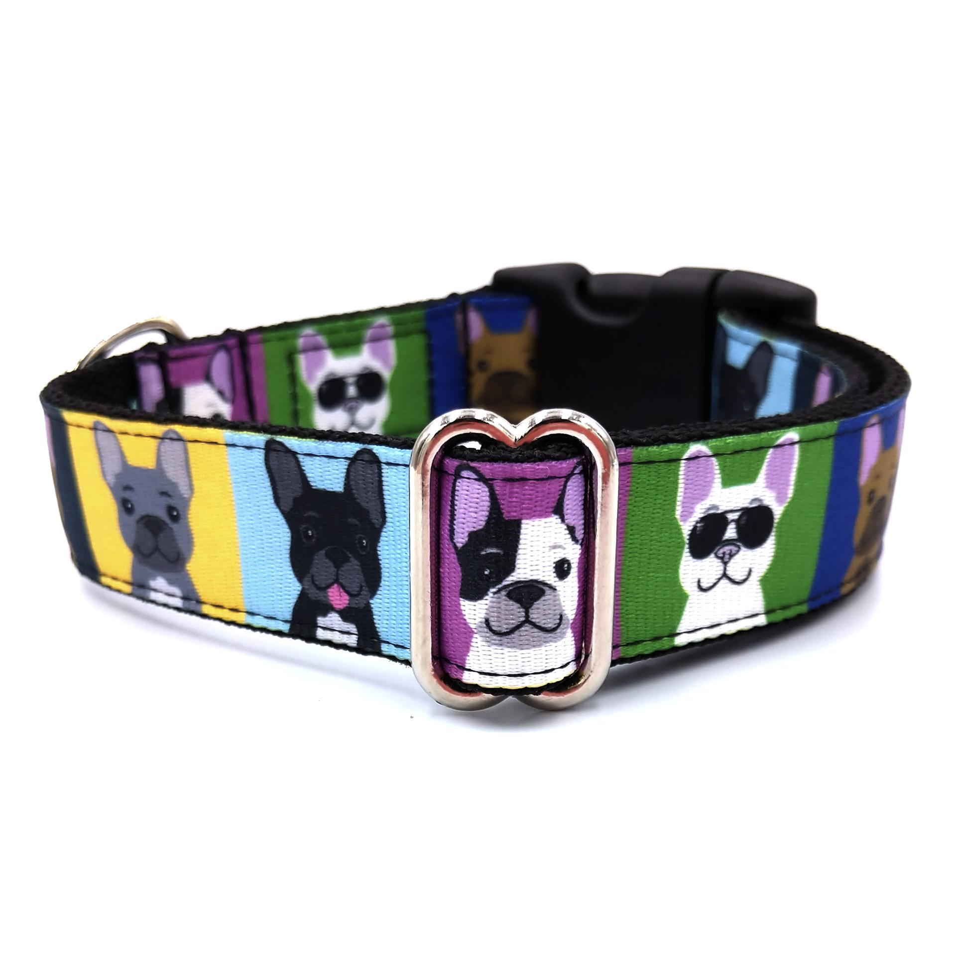 Bulldog love dog collar