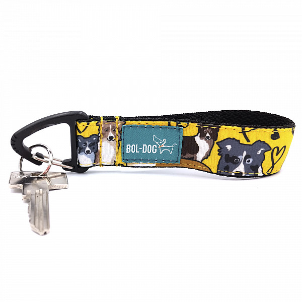 Collie love key holder