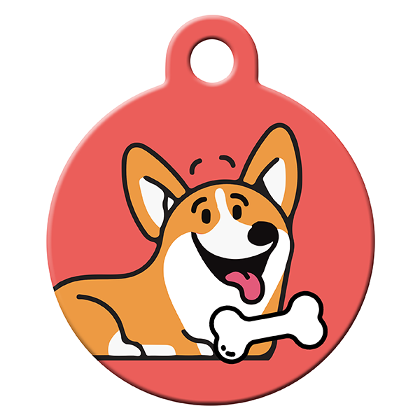 Corgi love dog ID tag