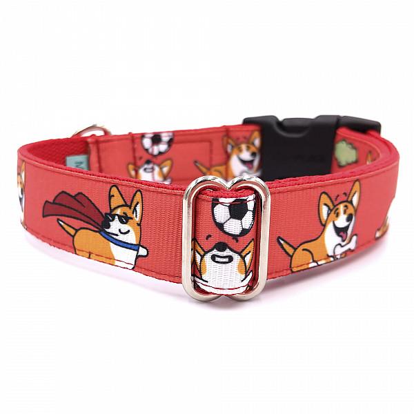 Corgi love dog collar
