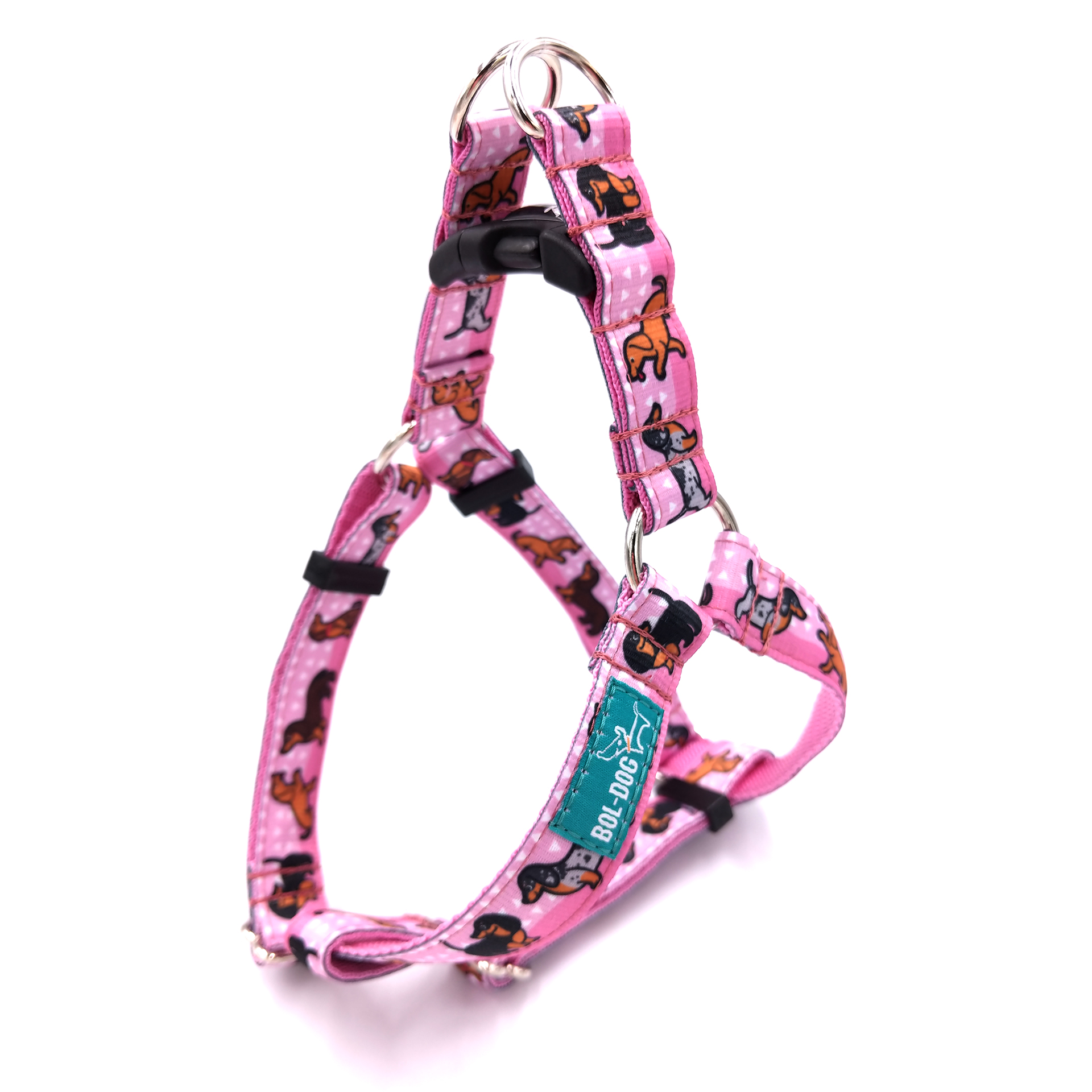 Doxie girl dog harness