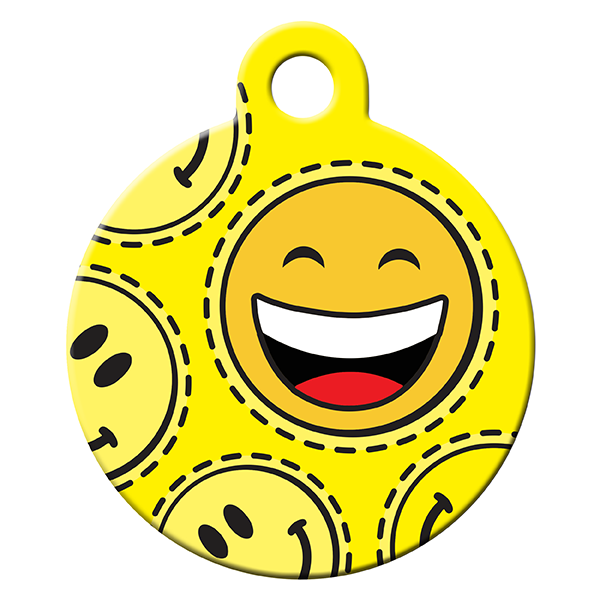 Smiley dog ID tag