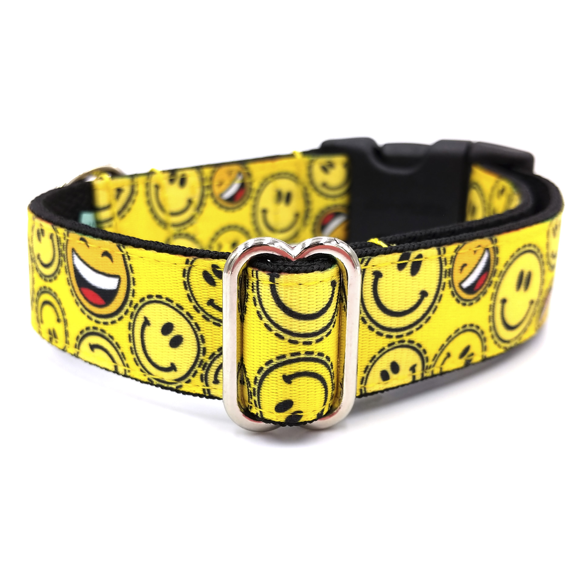 Smiley dog collar