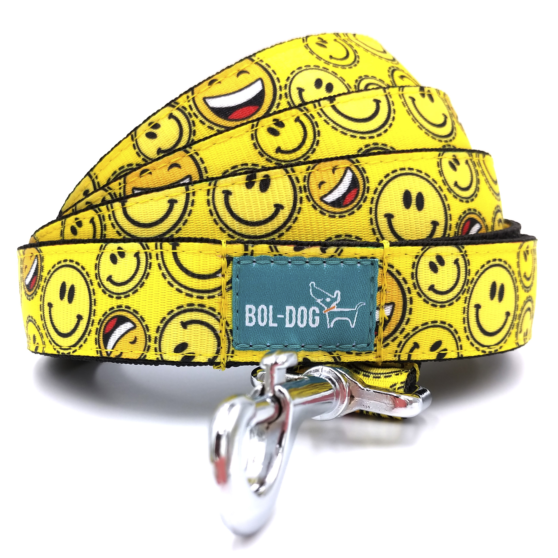 Smiley dog leash