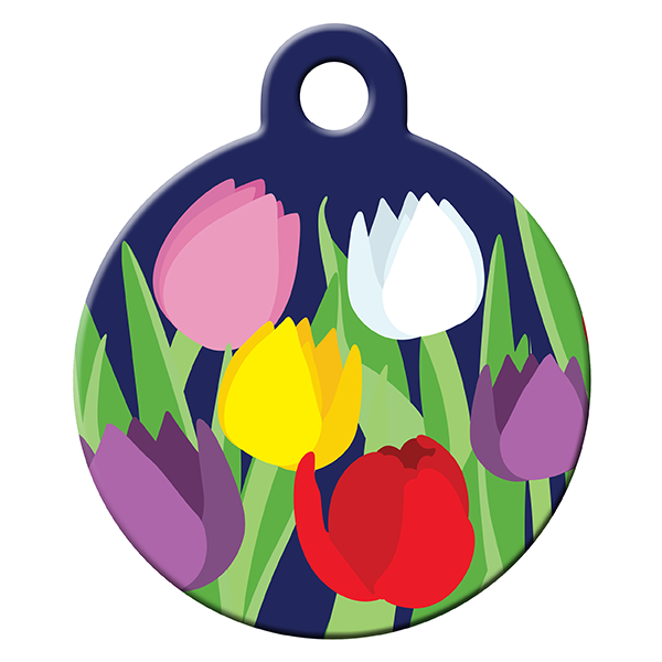 Tulip dog ID tag