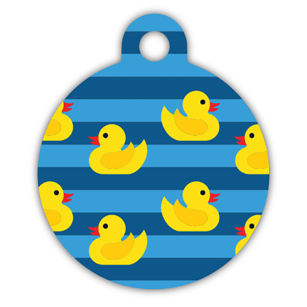 Rubber duck dog ID tag