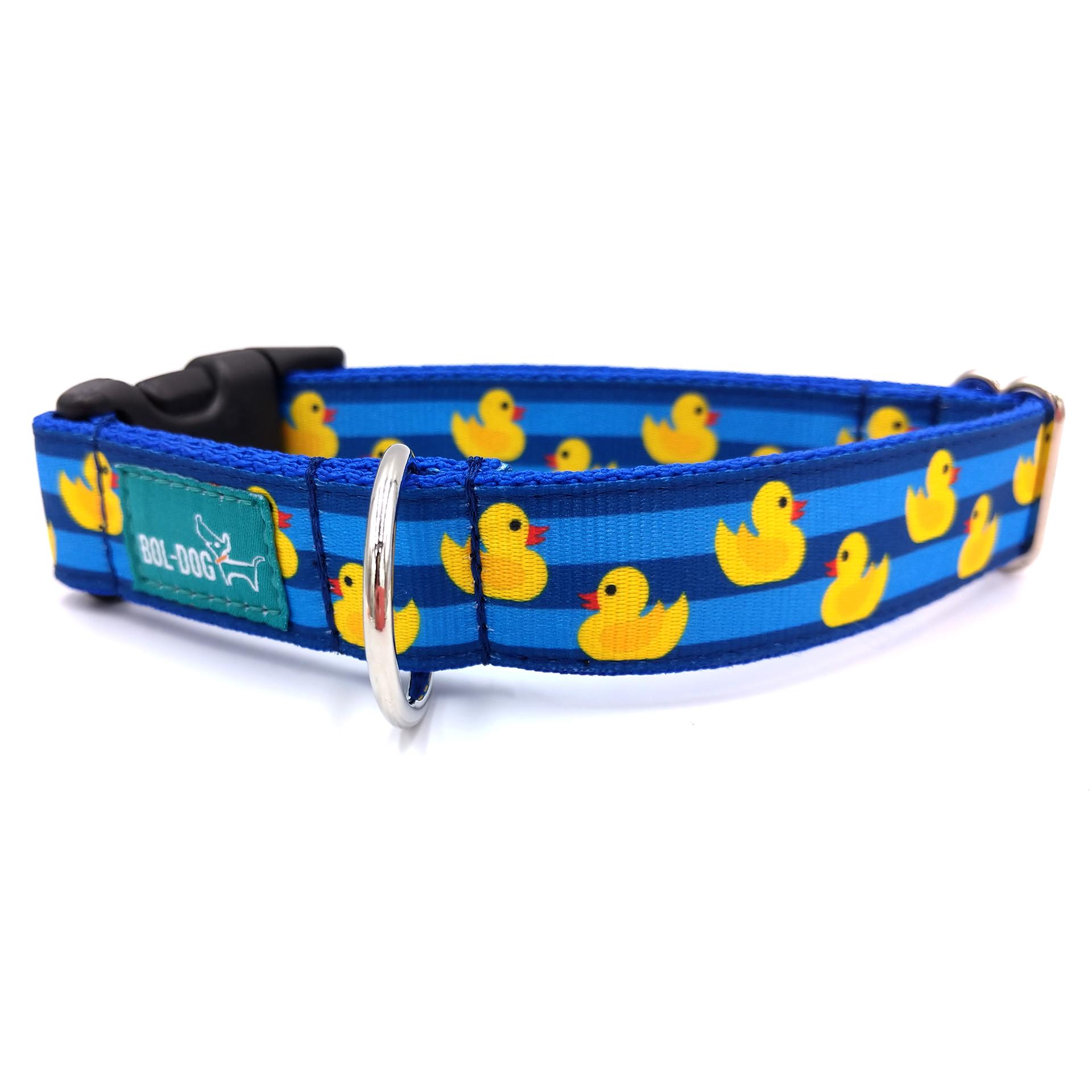 sárga kacsás kék csíkos nyakörv