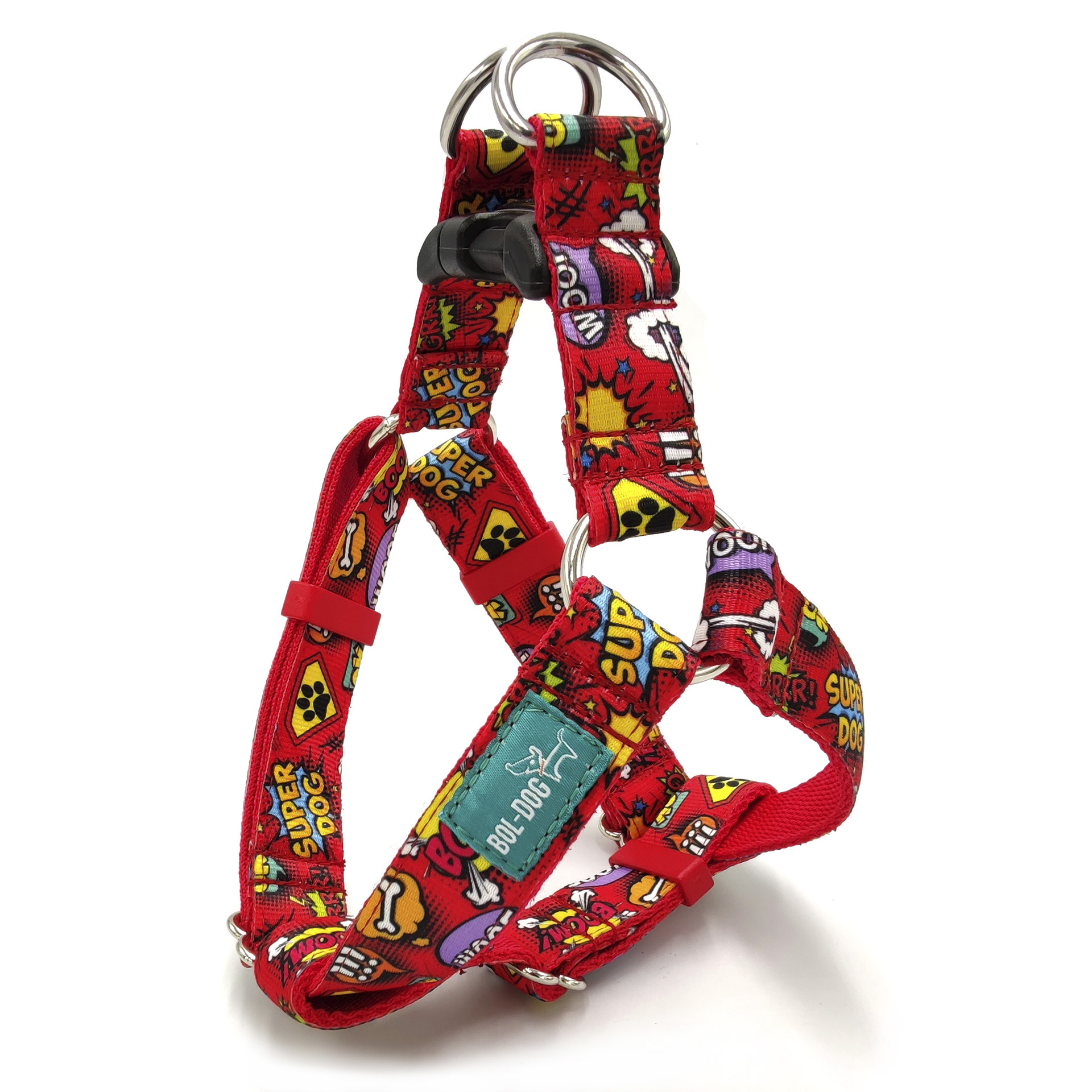 Superdog red dog harness