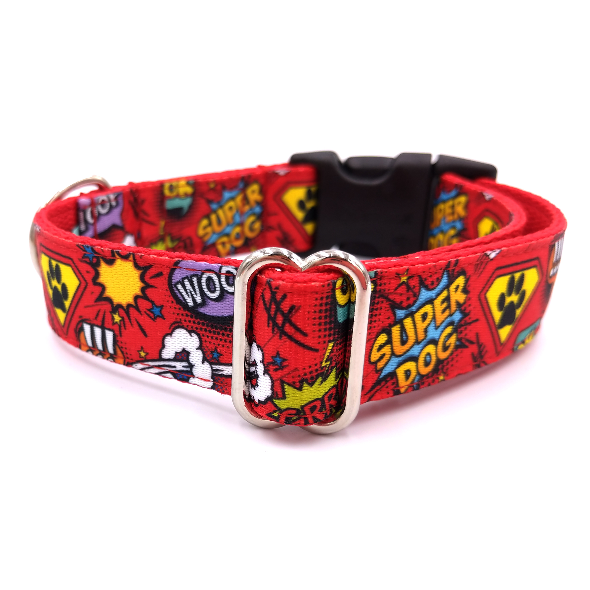 Superdog red dog collar