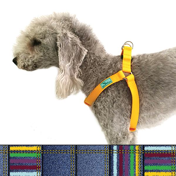 Jeans dog harness
