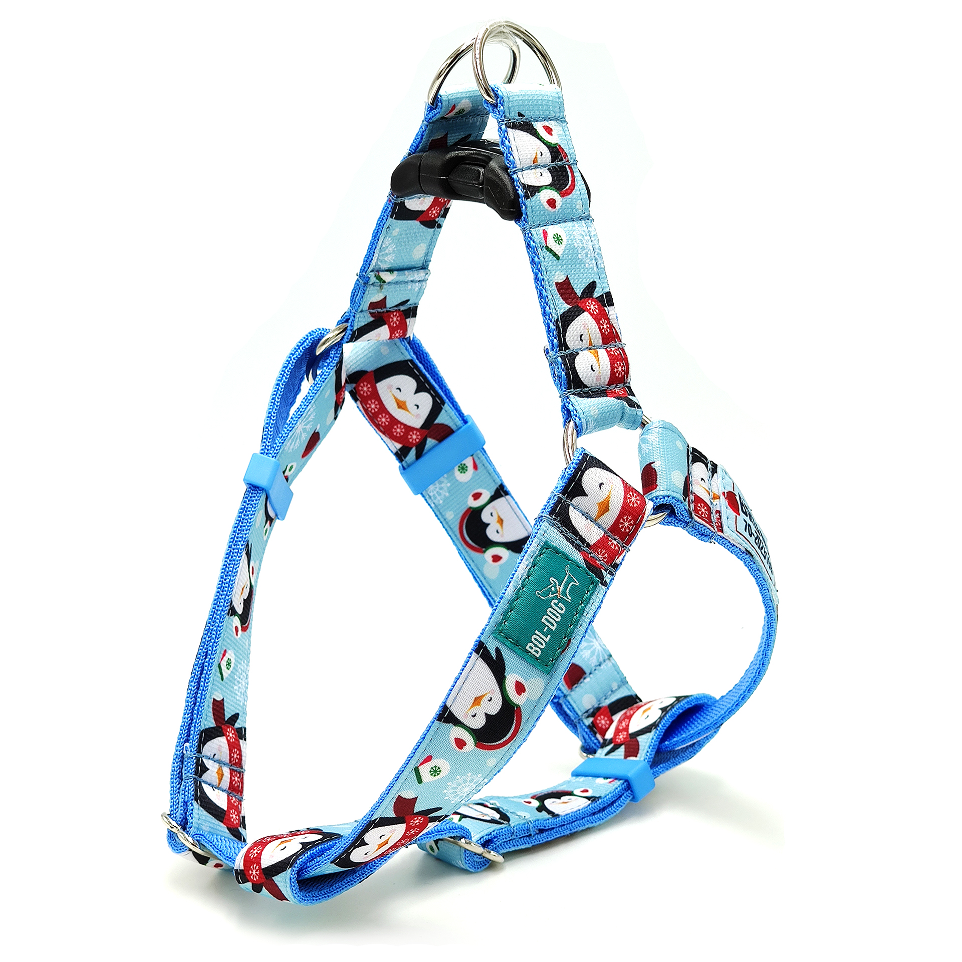 Icy penguin dog harness