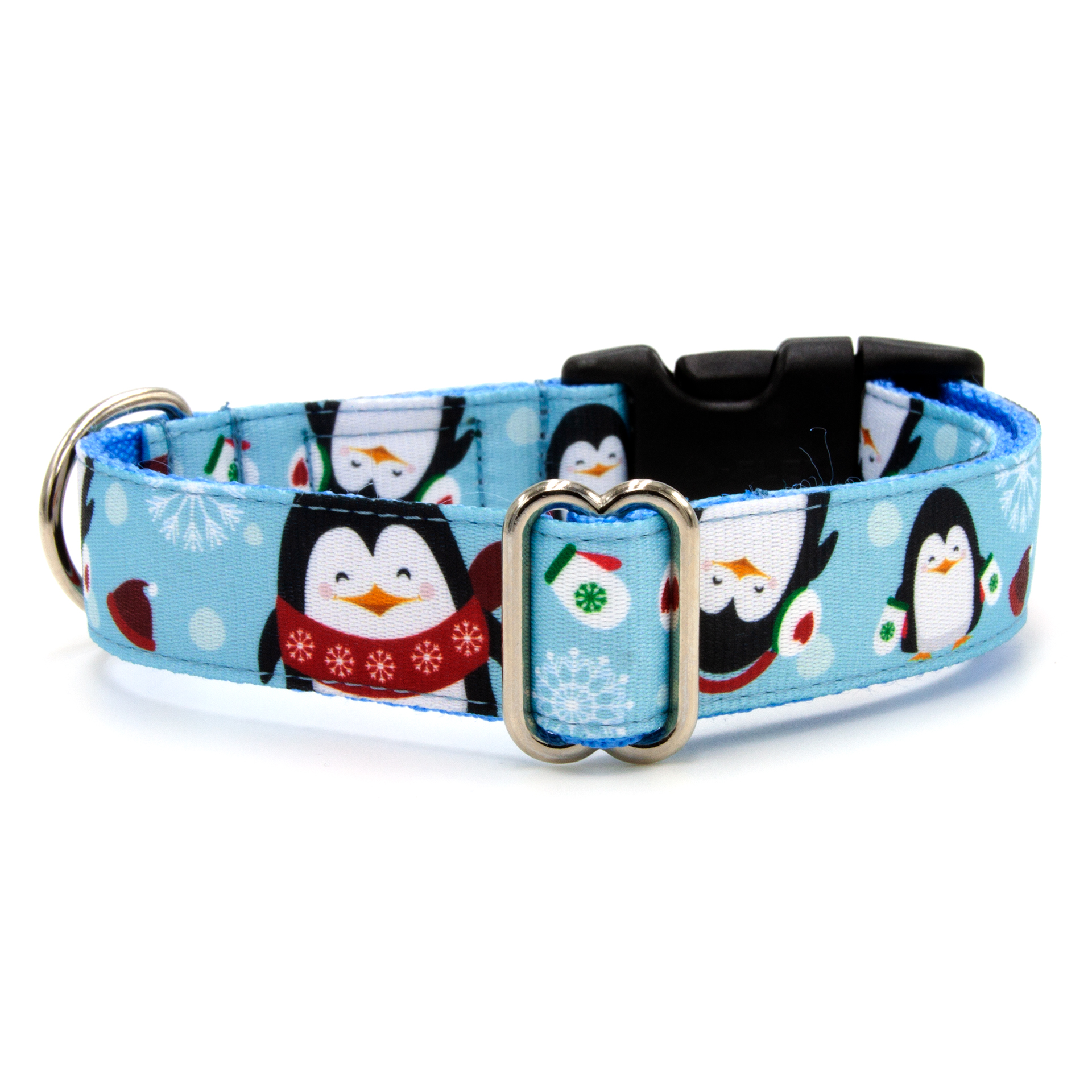 Icy penguin dog collar