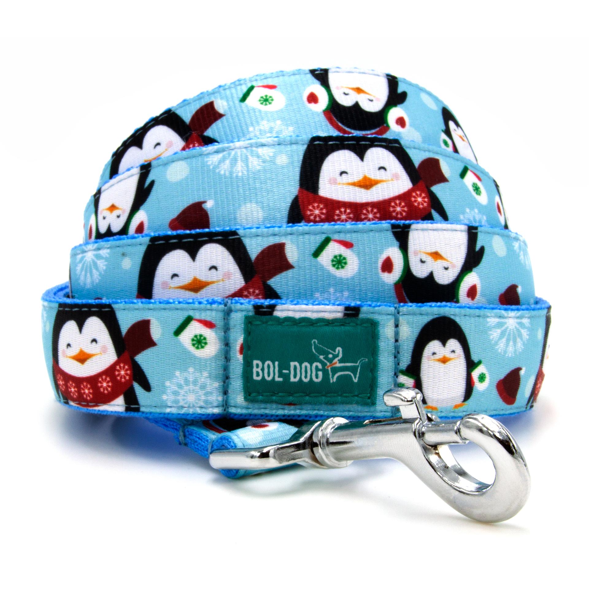 Icy penguin dog leash