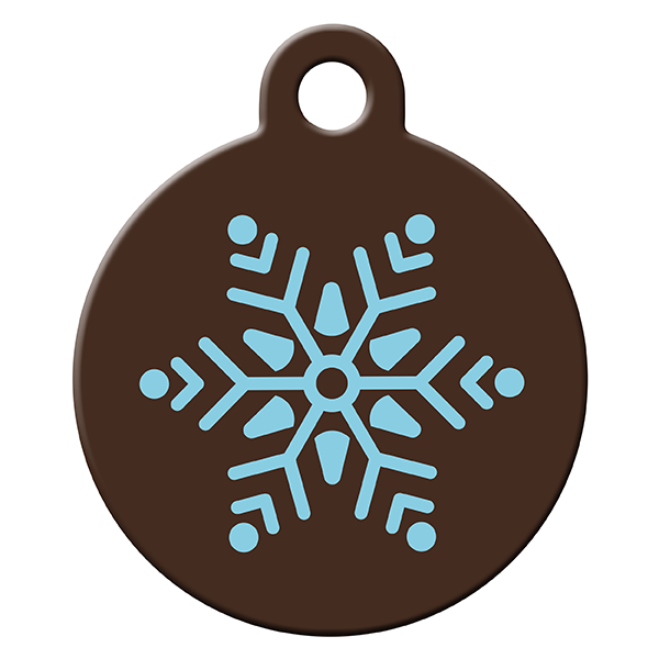 Snowfall dog ID tag