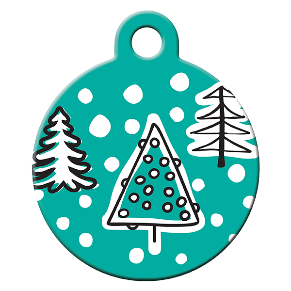 Snow cover dog ID tag