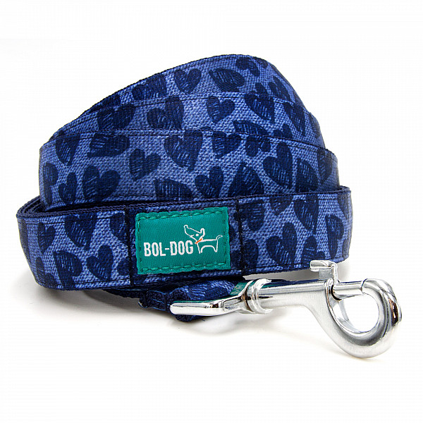 Indigo heart leash