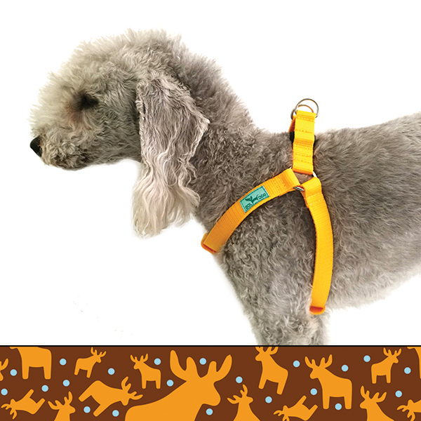 Honey deer dog harness