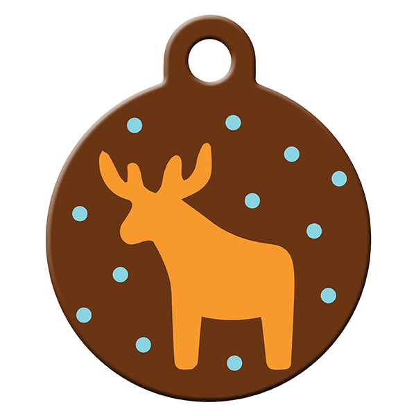 Honey deer dog ID tag