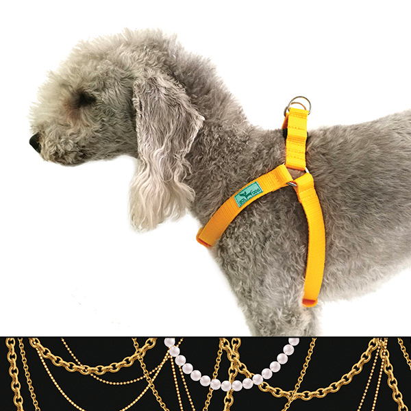 Necklace dog harness