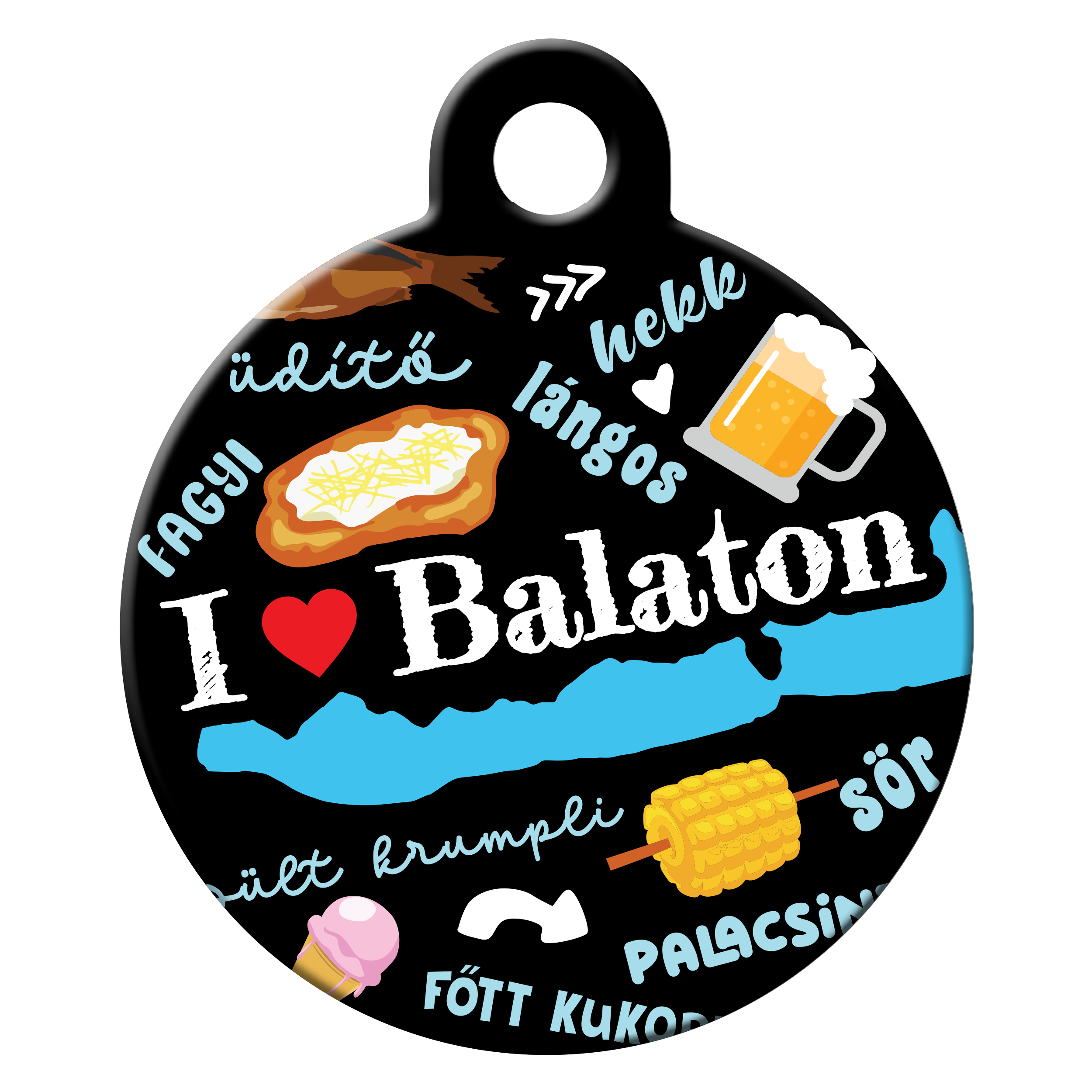 Balaton fever dog ID tag