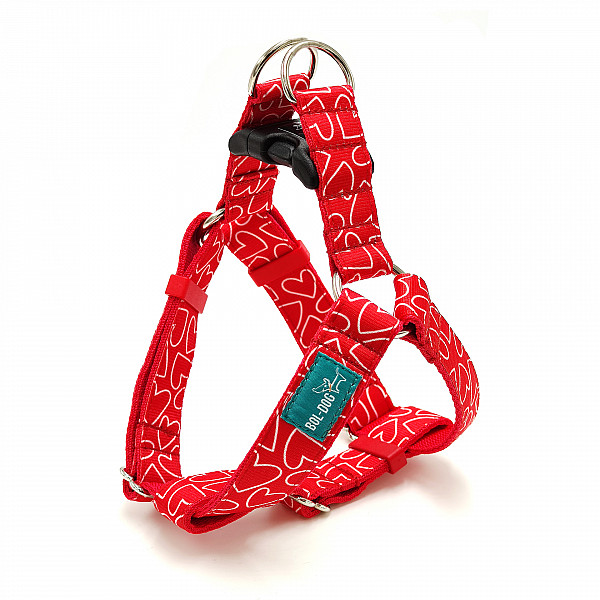 Red love harness