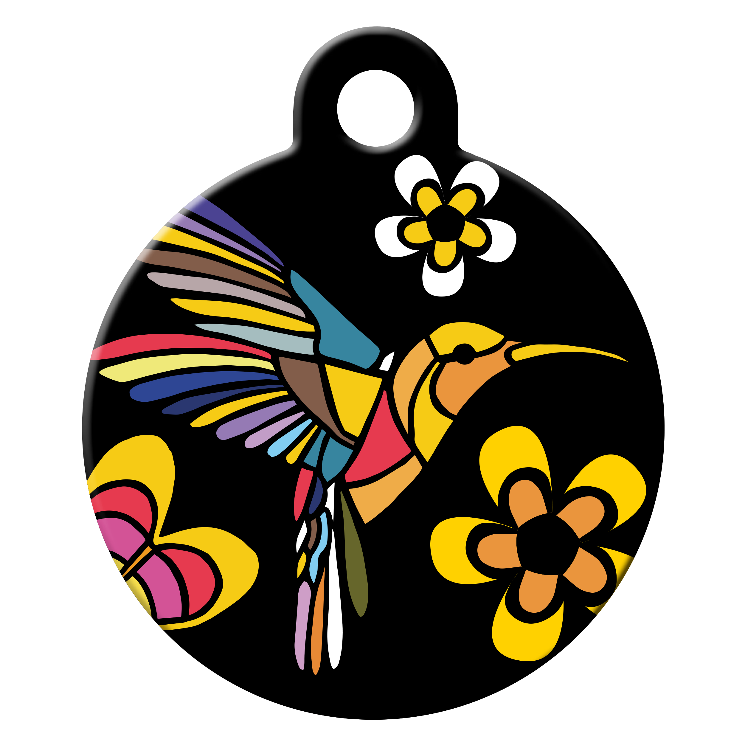 Hummingbird dog ID tag