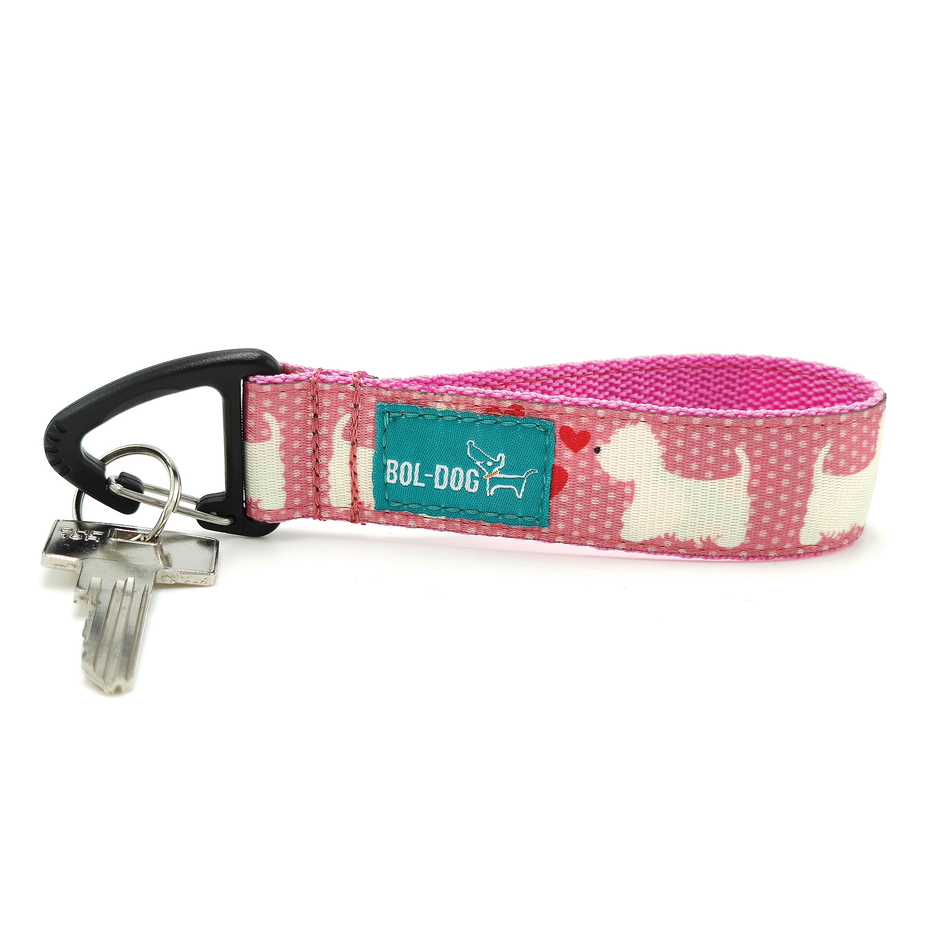 westie kulcstartó pink