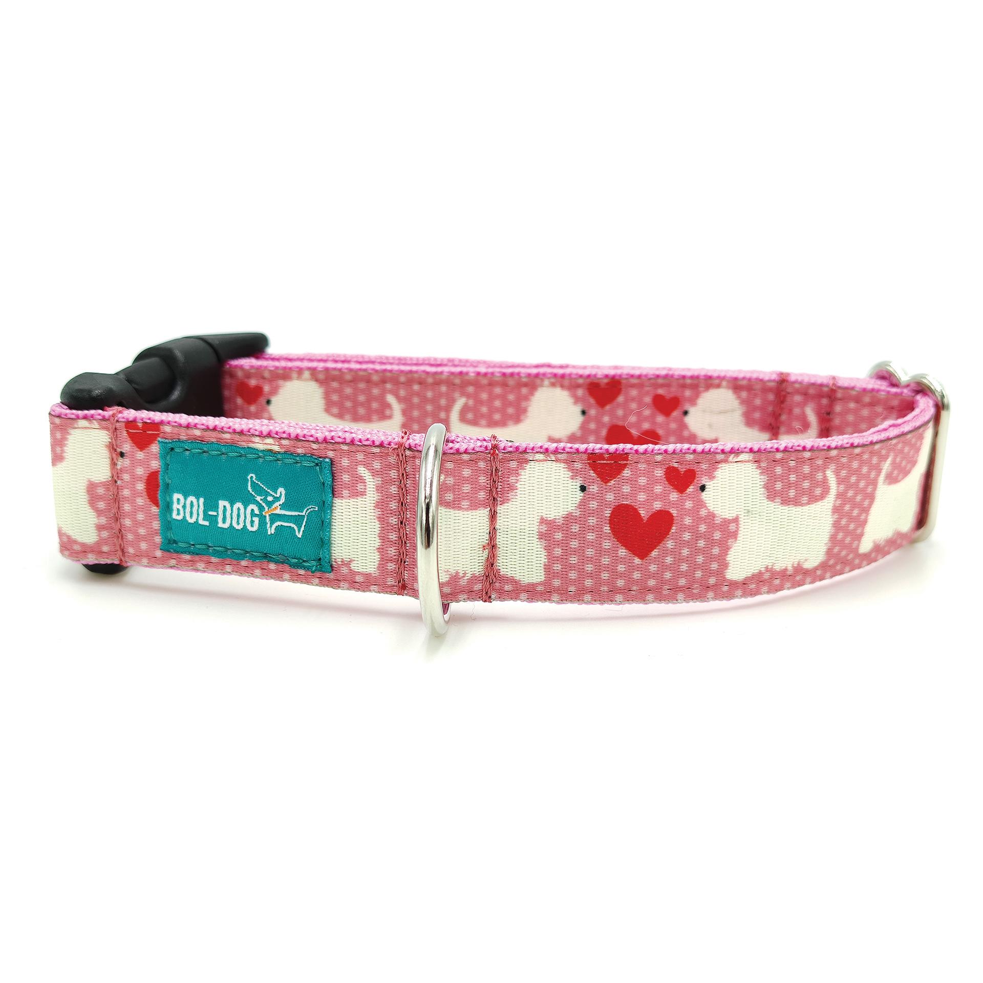 westie nyakörv pink színben