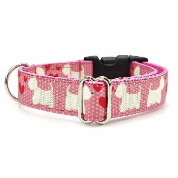 Westie pink collar