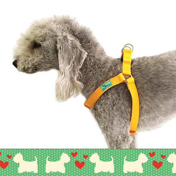 Westie green dog harness