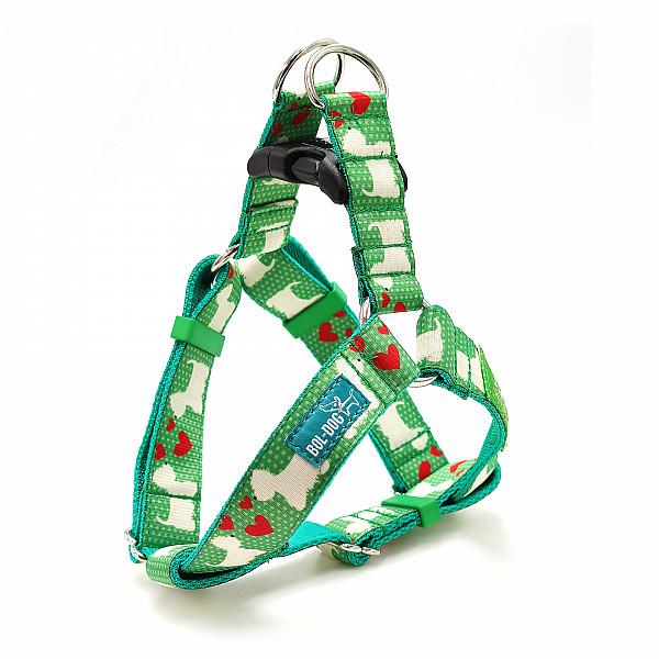 Westie green harness